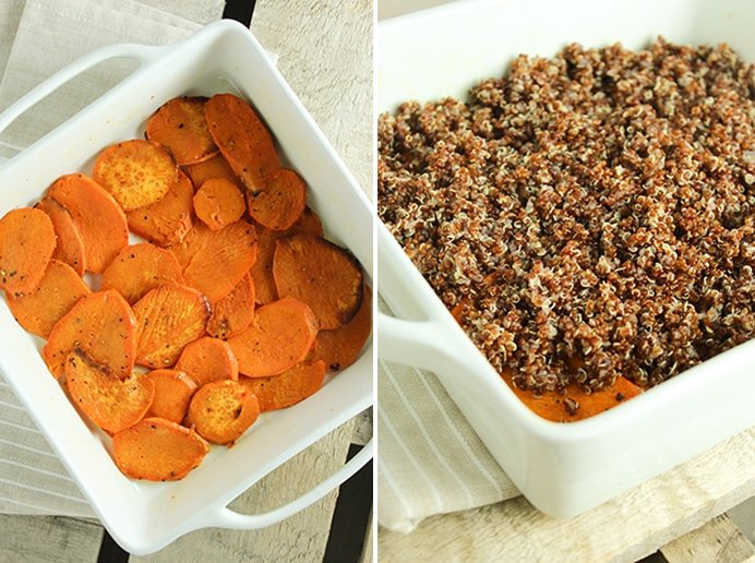 Sweet Potato Casserole Side by Side