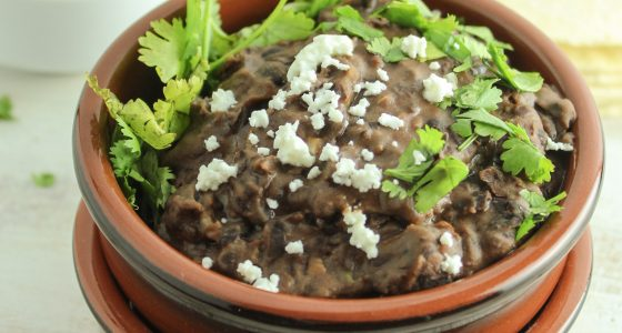 Best Ever Vegetarian Refried Black Beans