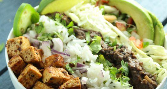 Vegan Tofu Taco Bowls