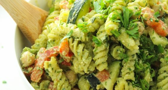 20 Minute Pesto Pasta Salad