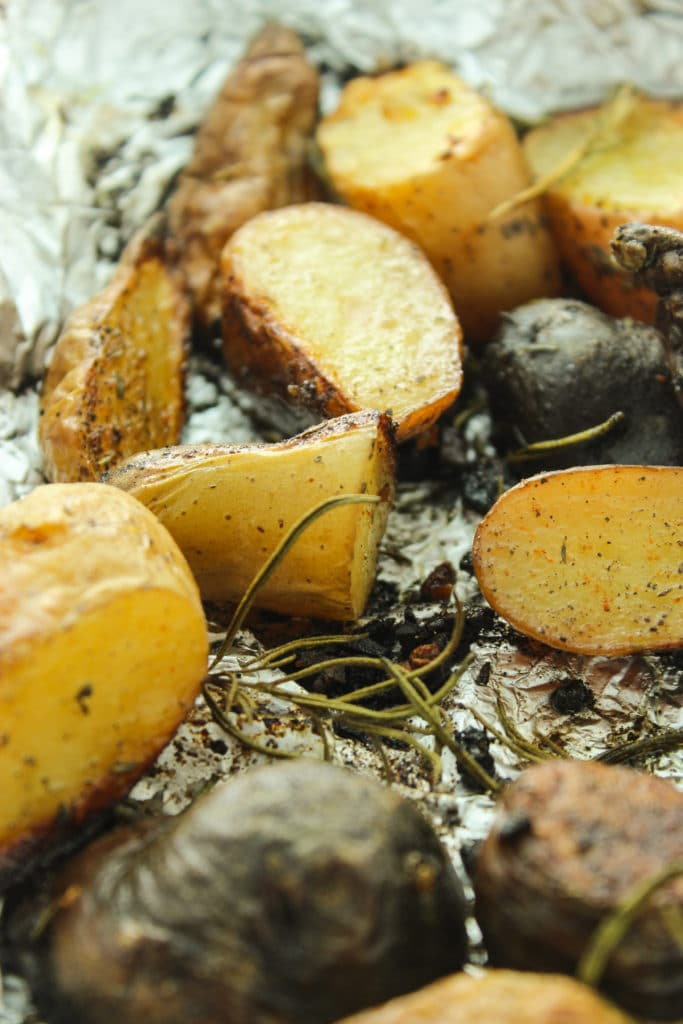 Rosemary Grilled Potatoes Close up