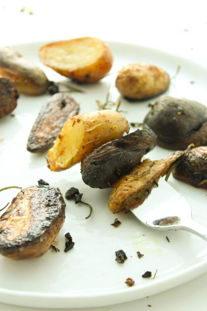 Herbed Grilled Potatoes on fork