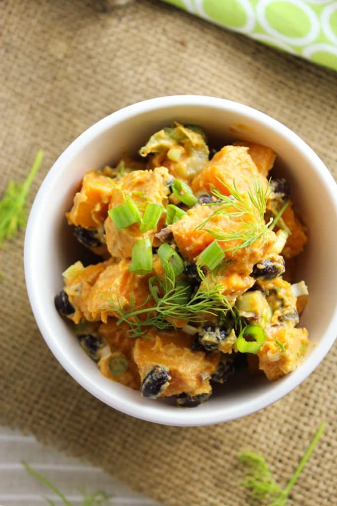 Dijon Sweet Potato Salad Bowl