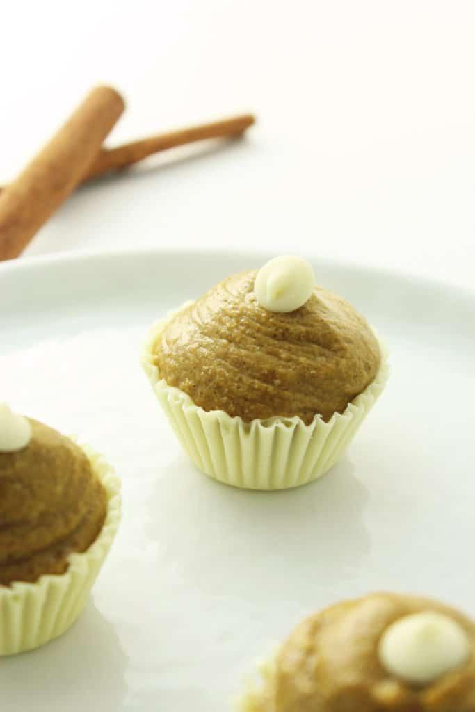White Chocolate Pumpkin Truffles on plate