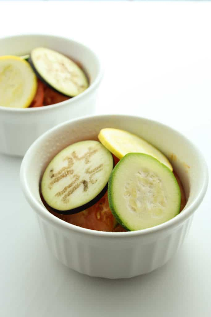 Courgette Tomatoes Bowls