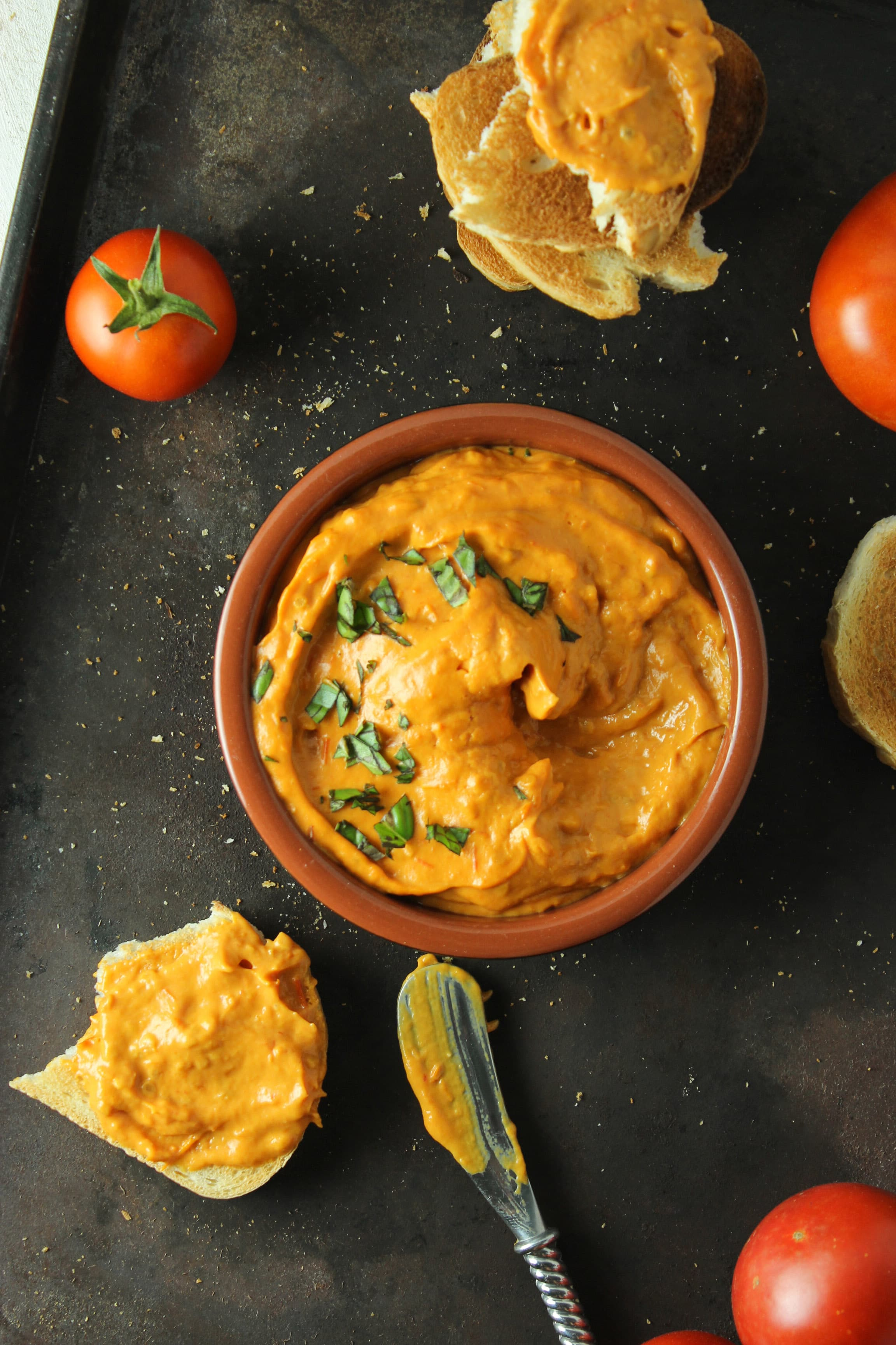 2 Ingredient Roasted Tomato Dip