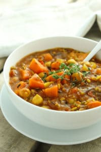 Crockpot Curried Sweet Potato Chili