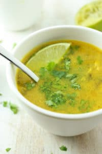 Crockpot Coconut Curry Lime Soup