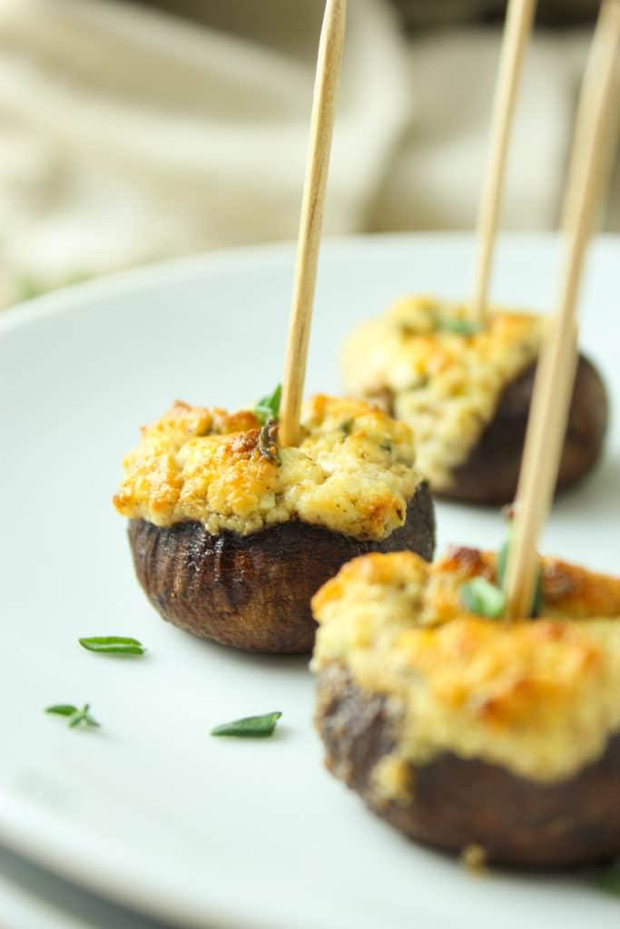 Herbed Goat Cheese Stuffed Mushrooms
