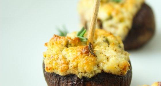 Goat Cheese Stuffed Mushrooms