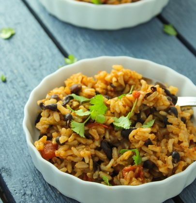 Easy Mexican Beans and Rice