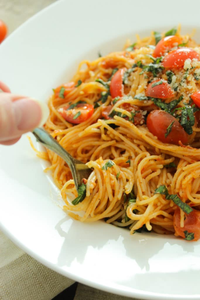 Pasta Diavolo in bowl