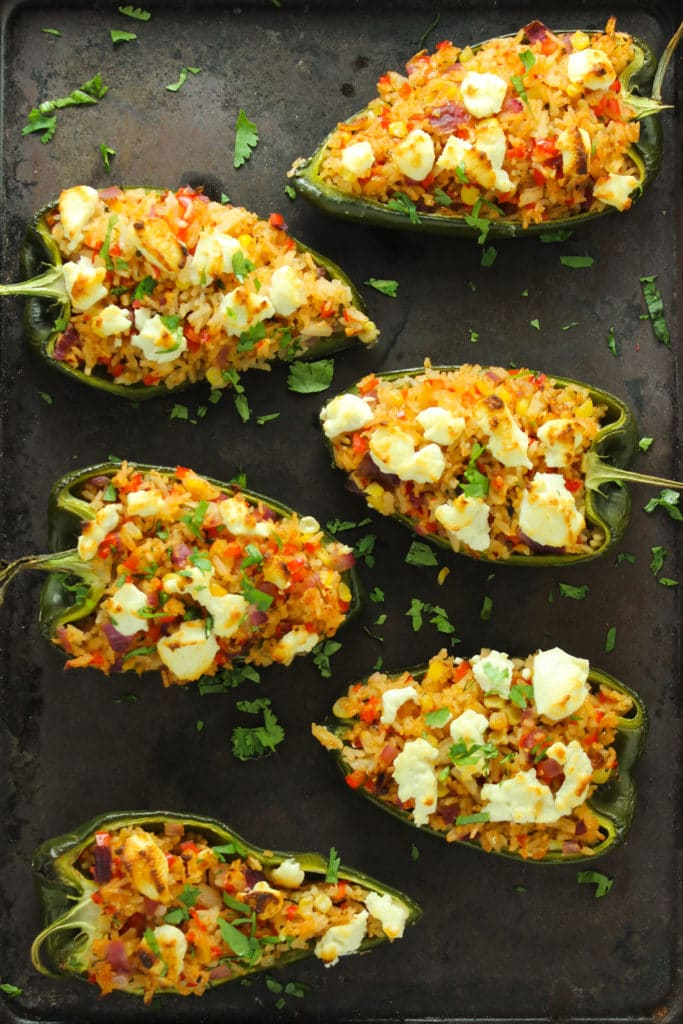 6 Goat Cheese-Stuffed Poblano Peppers