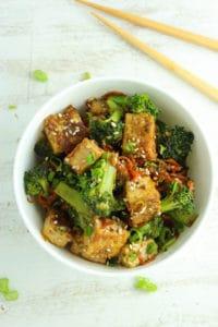 Sticky Sesame Tofu and Broccoli-162