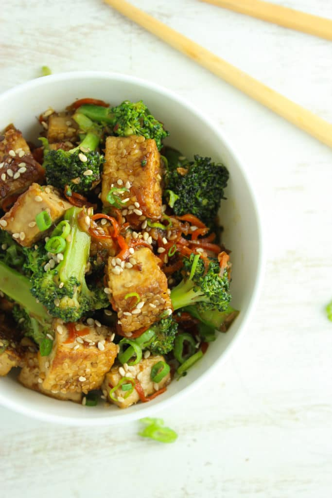 Sticky Sesame Tofu and Broccoli