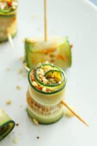 Vegan Cucumber Pinwheels with Sundried Tomato Pesto