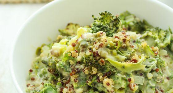 Vegan Broccoli Quinoa Casserole