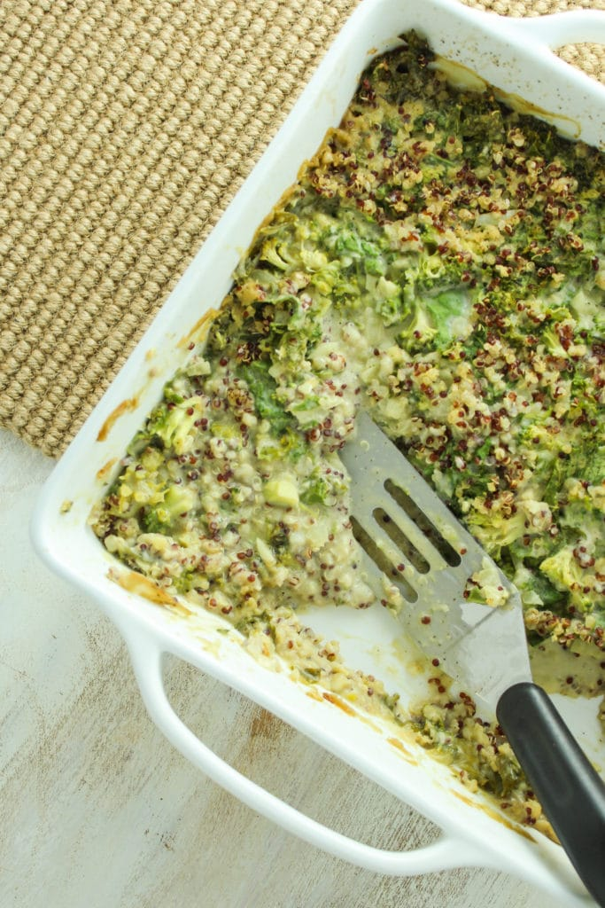 Creamy Vegan Green Casserole Serving Dish