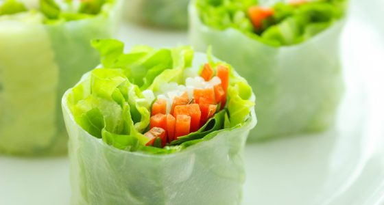 Summer Rolls with Creamy Peanut Dip and Chili Garlic Sauce