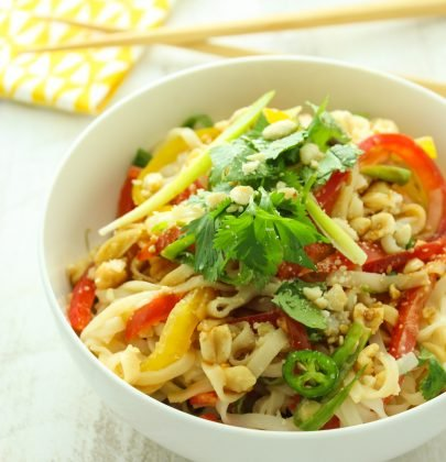 15 Minute Thai Rice Noodle Salad
