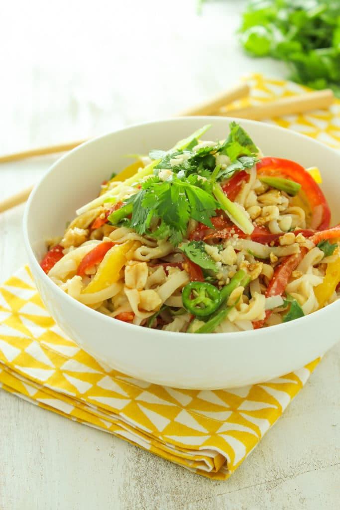 15 Minute Thai Rice Noodle Salad