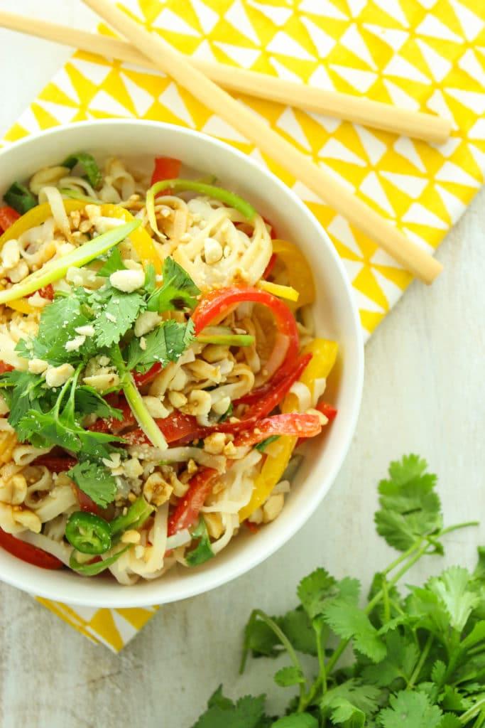15-Minute Thai Rice Noodle Salad