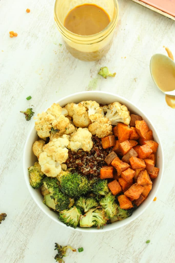 Sweet Potato and Cauliflower Quinoa Bowls