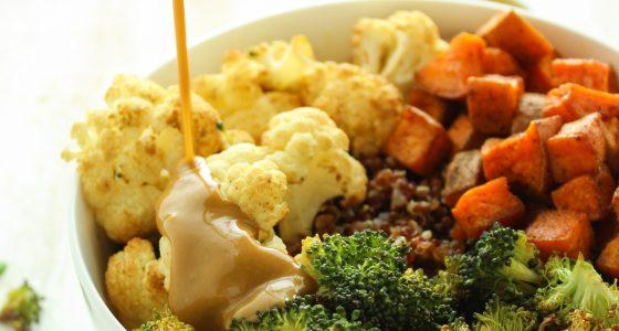Sweet Potato Cauliflower Quinoa Bowls
