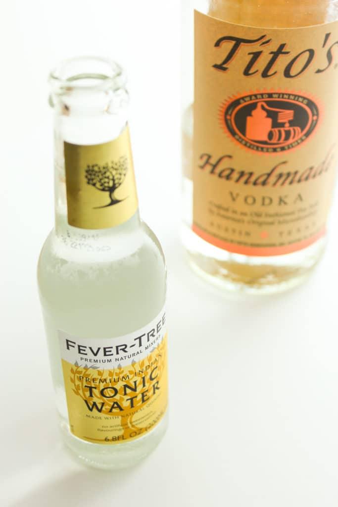Fresh Orange Vodka Tonics