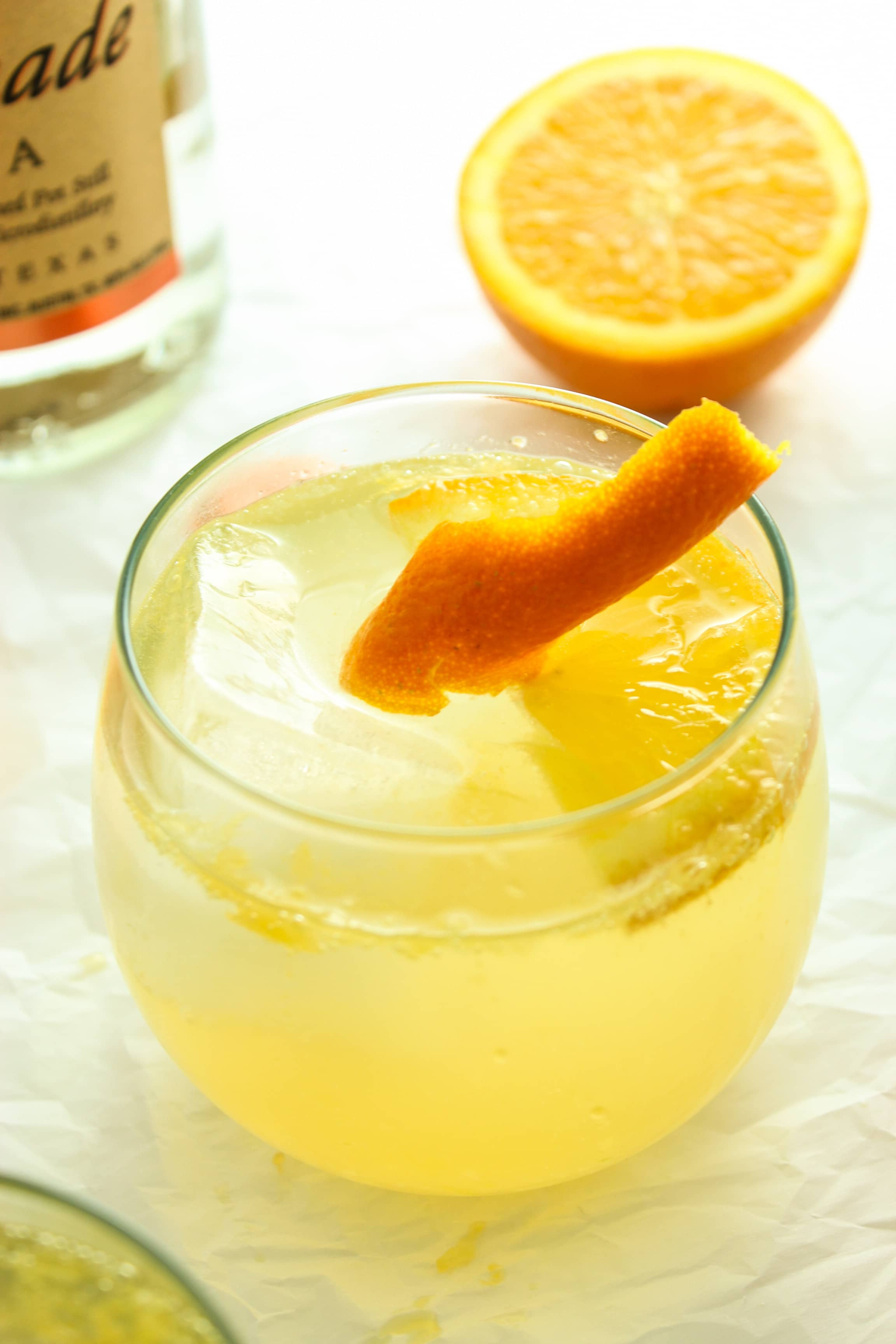 Fresh Orange Vodka Tonics