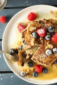 Blueberry Walnut Granola Pancakes