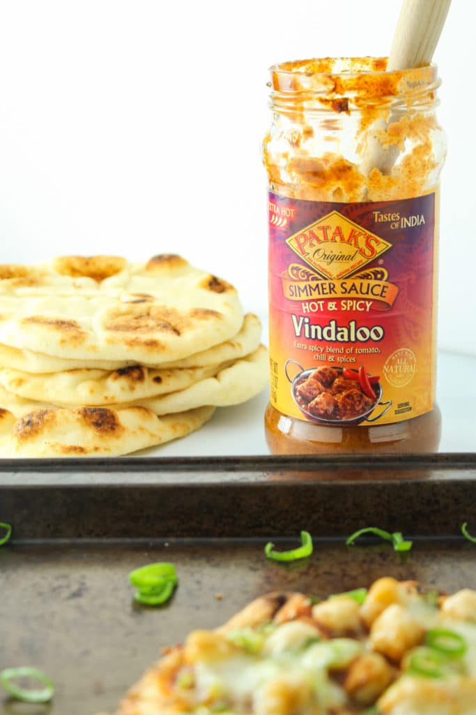 Easy Indian Naan Pizzas