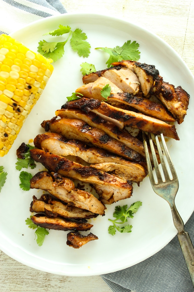 Sweet and Spicy Grilled Chicken Thighs