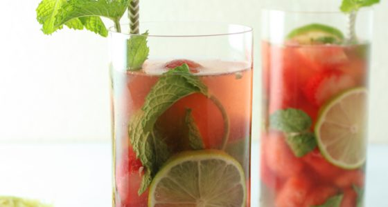 Watermelon Rosé Sangria