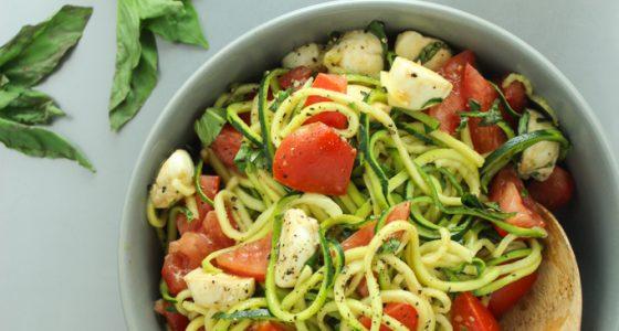 Zucchini Caprese Salad