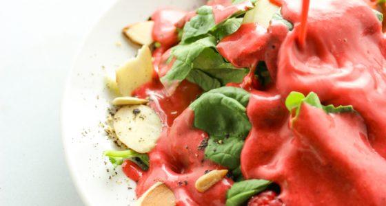 5 Minute Raspberry Balsamic Salad Dressing