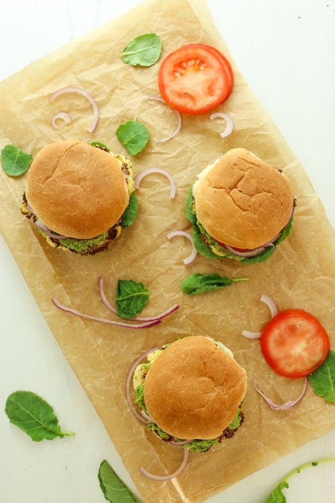 3 Cauliflower Steak Sliders with Tomato