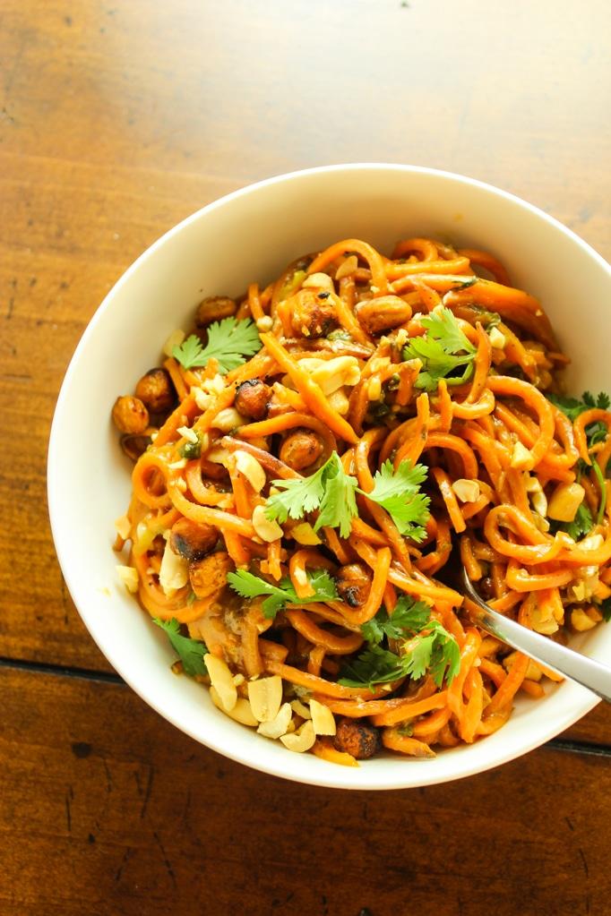 Thai Peanut Sweet Potato Noodles