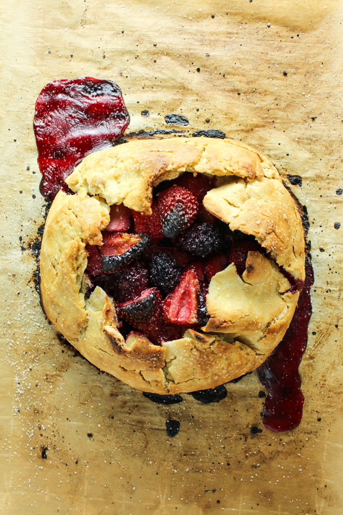Vegan Berry Galette from above