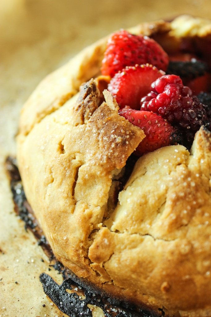 Vegan Berry Galette Close up