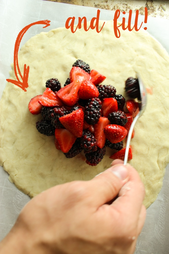 Fruit Added to Dough