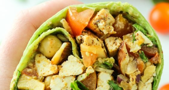 Green Goddess Tofu Wraps