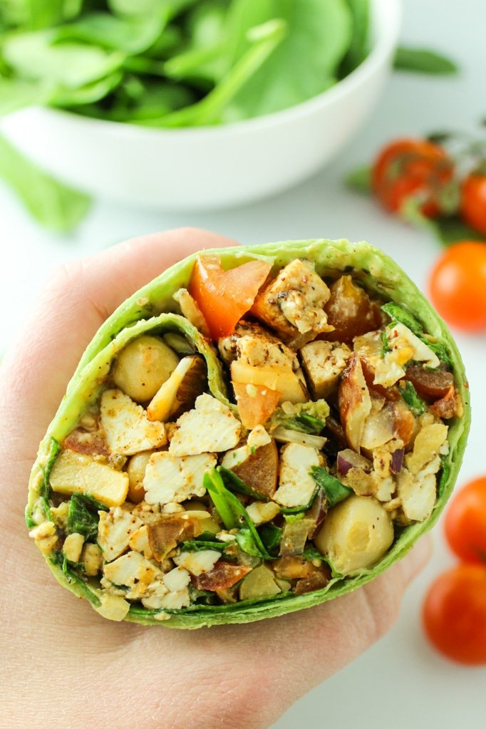 These wraps are perfect to pack for lunch or travel. Tons of protein and fiber and super easy to make!