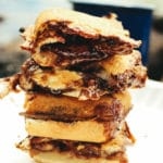 Campfire Nutella Banana Breakfast Sandwiches – These are a simple and indulgent treat to bring along camping. We like them better than s'mores!