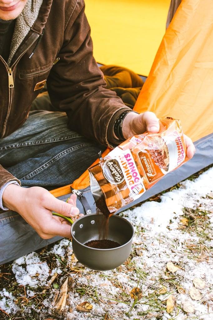 Vegan Pumpkin Spice Coffee Creamer Man Tent