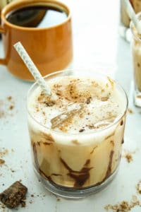 Iced Espresso Mudslides –– These Caribbean-inspired cocktails are made with fresh espresso(!), vodka, and Irish cream. You catch a buzz while you get a buzz!