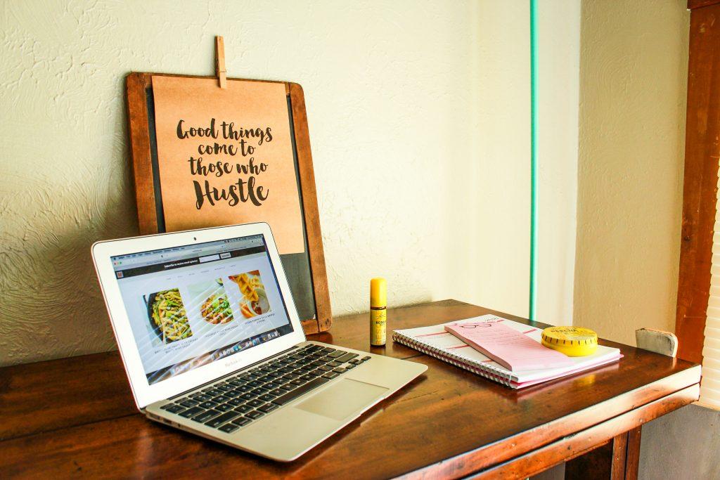 Laptop Table Pen Paper
