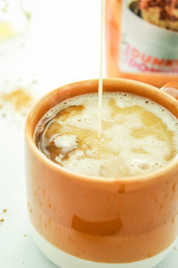 Vegan Pumpkin Spice Coffee Creamer – This is a dream come true! Mix coconut milk, spices, and maple syrup for a delicious homemade creamer. Comes together in a mason jar!
