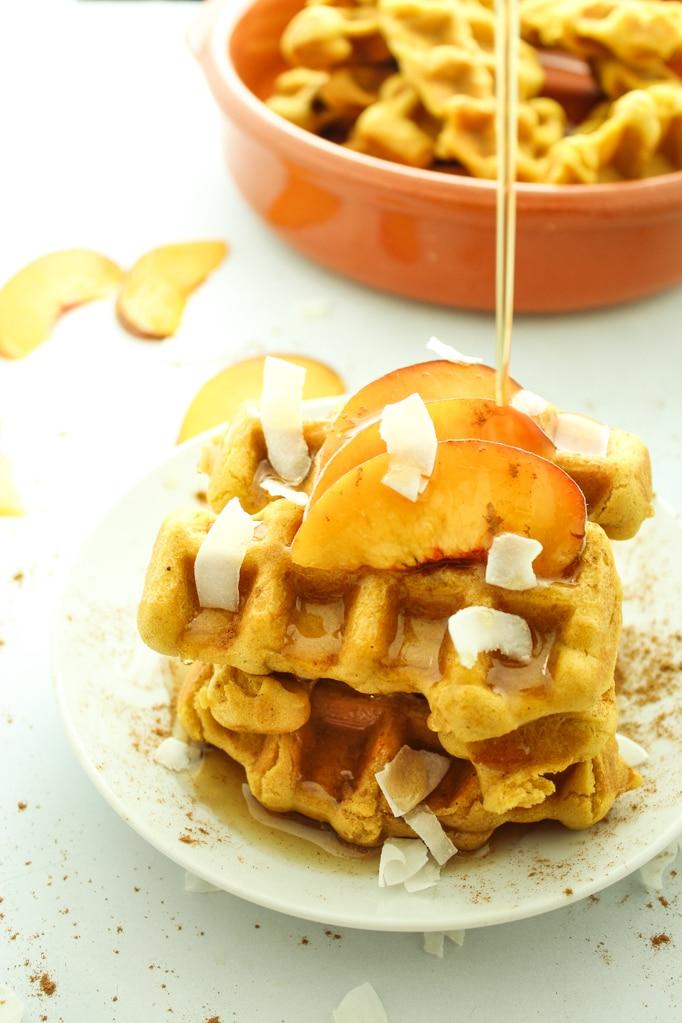 Vegan Pumpkin Spice Waffle Dippers
