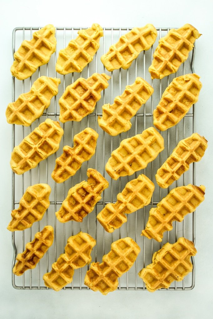 Vegan Pumpkin Spice Waffle Dippers Oven Grill